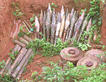 Unbelievable amounts of dangerous, unexploded ammunition and mines